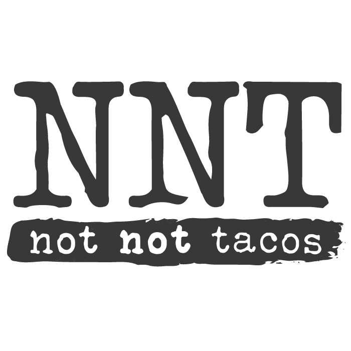 Not Not Tacos Logo Black and White