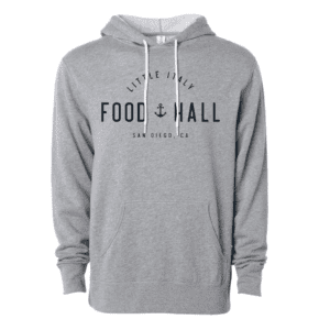 Grey hooded Little Italy Food Hall sweatshirt