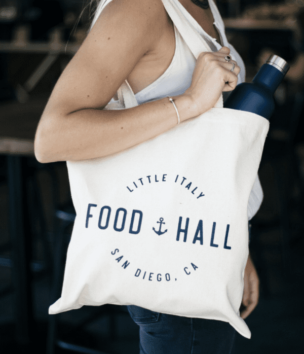 Little Italy Food Hall canvas tote
