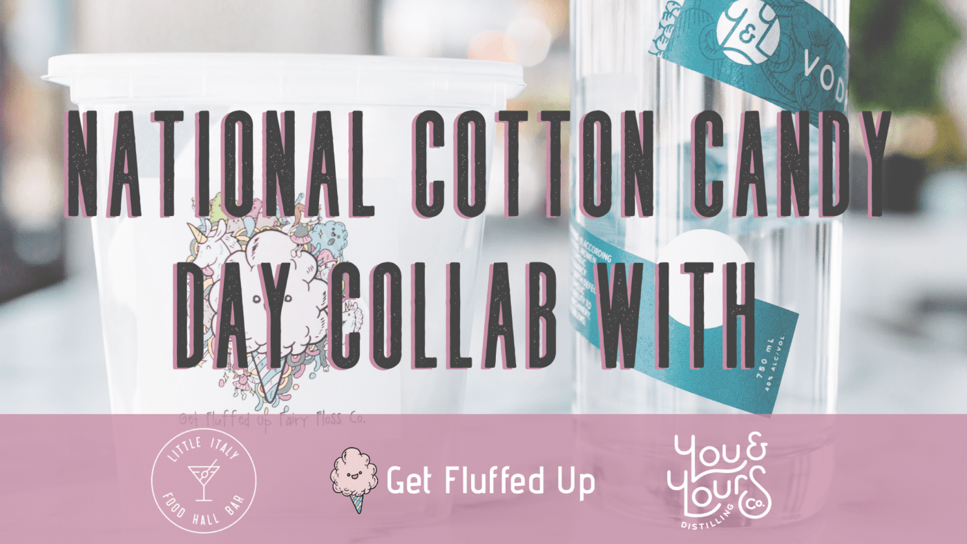 National Cotton Candy Day collaboration graphic