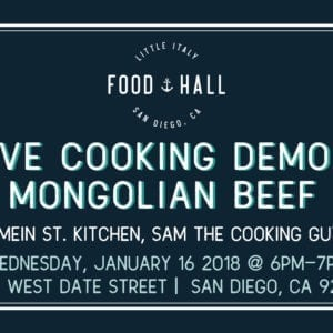 Cooking Demo Promotion Mongolian Beef