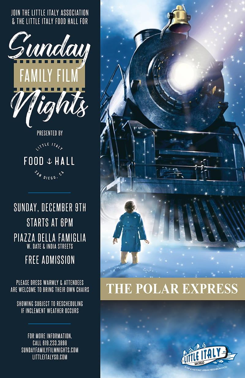 Polar Express Sunday Night Family Film graphic