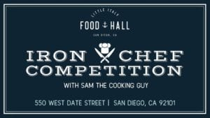 Iron chef competition graphic