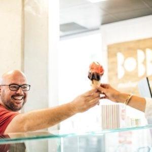 Photo of Bobboi gelato hand off