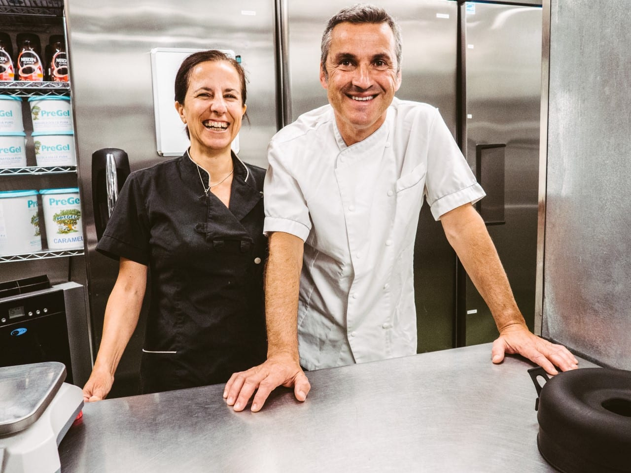 Executive Gelato Chef Monica Maccioni and Owner Andrea Racca