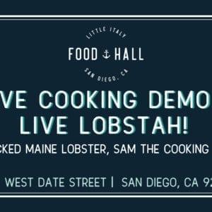 Cooking demo advertisement
