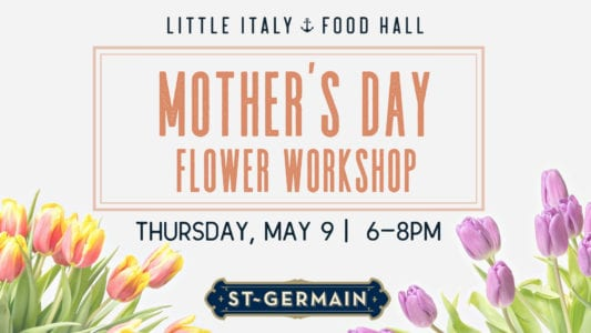 mother's day flower workshop graphic