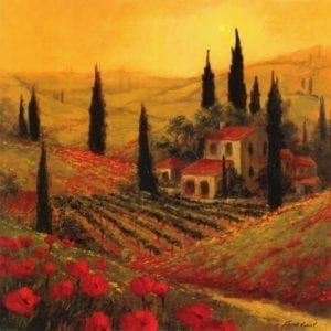 Painting of tuscany