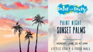 paint and party night at the food hall