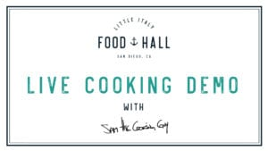 live cooking demo with Sam the Cooking Guy
